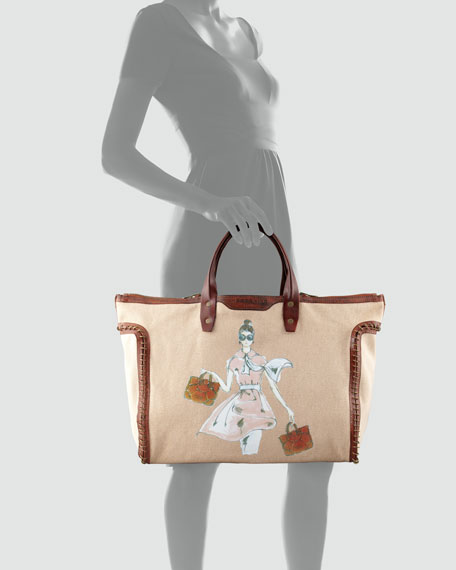 Wendy Reversible Canvas Tote Bag