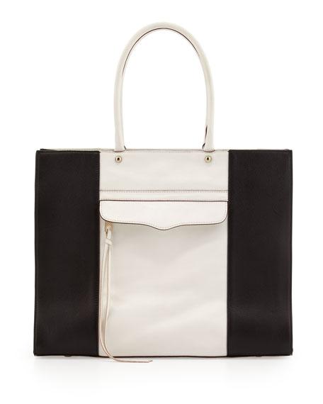 MAB Leather Tote Bag, Almond Brown