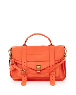 Proenza Schouler PS1 Medium Satchel Bag, Grapefruit