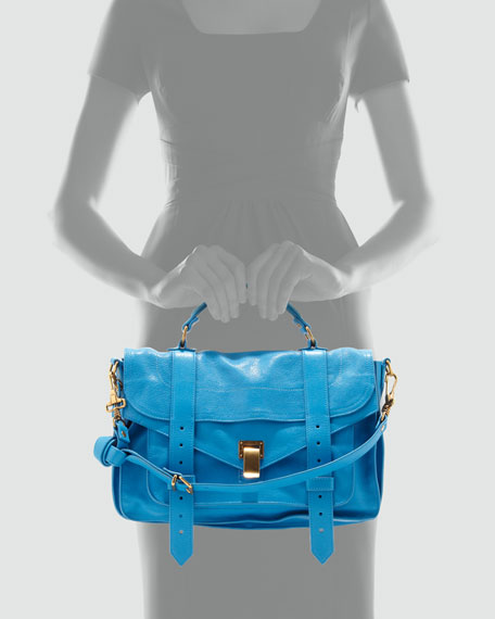 PS1 Medium Leather Satchel Bag, Rip Tide