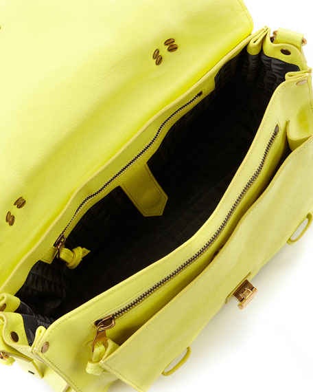 PS1 Medium Leather Satchel Bag, Lemon
