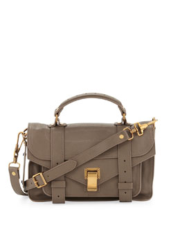 Proenza Schouler PS1 Mini Satchel Bag, Smoke