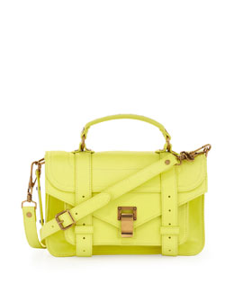 Proenza Schouler PS1 Mini Satchel Bag, Lemon