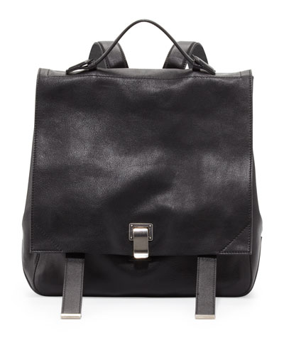 Proenza Schouler PS Large Leather Backpack, Black