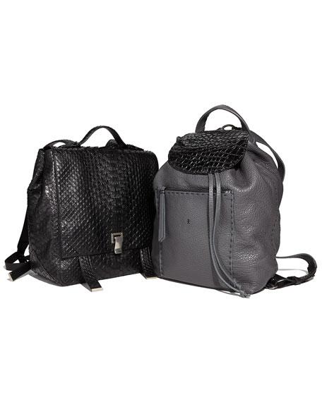 PS Large Python Backpack, Black