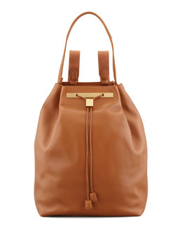 THE ROW Hobo Leather Hobo/Backpack, Camel