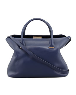 THE ROW The Carry All Small Leather Tote Bag, Imperial Blue