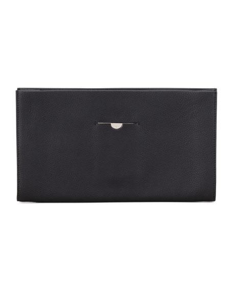 Small Wrap Clutch Bag, Black