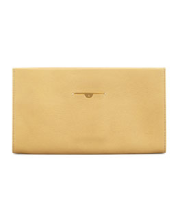 THE ROW Small Wrap Clutch Bag, Canary
