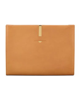 THE ROW Large Wrap Clutch/Portfolio, Camel