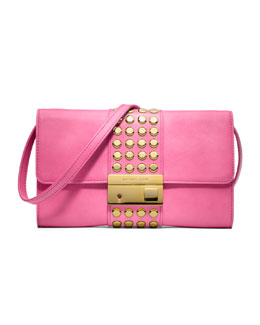 Michael Kors  Gia Studded Leather Clutch