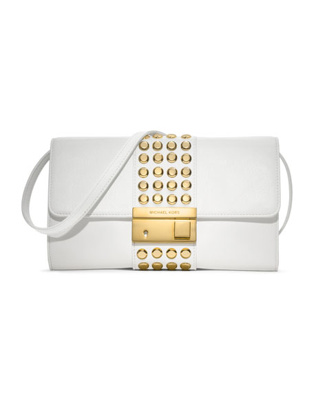 Gia Studded Leather Clutch
