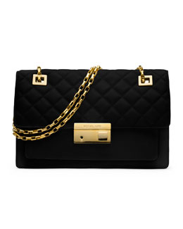 Michael Kors  Gia Quilted-Top Flap Shoulder Bag