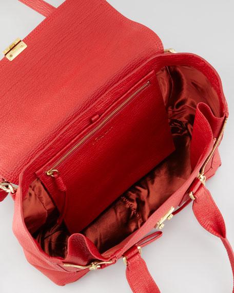 Pashli Medium Satchel Bag, Red