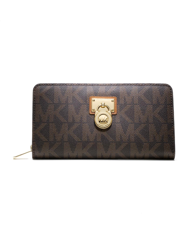 caea3900f330bb MICHAEL Michael Kors Large Hamilton Logo Continental Wallet   Neiman ...