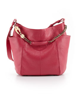 Jimmy Choo Anna Leather Tote Bag, Magenta