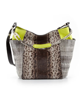 Jimmy Choo Anna Snakeskin Tote Bag, Multicolor