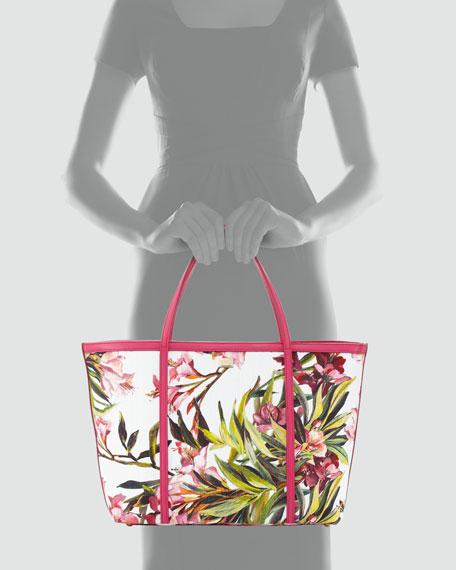 Escape Floral Canvas Shopper Tote Bag