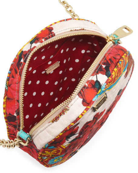 7798086ea0f9 Dolce   Gabbana Glam Floral Round Crossbody Bag