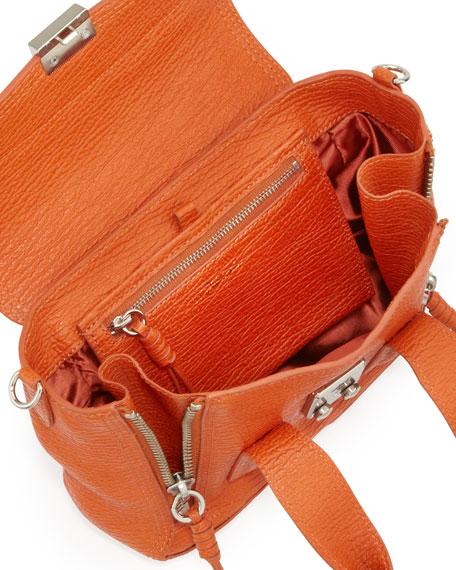 3.1 Phillip Lim Pashli Mini Leather Satchel Bag, Orange