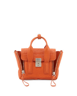 3.1 Phillip Lim Pashli Mini Leather Satchel Bag, Orange