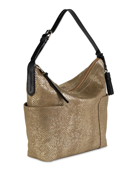 Parker Exotic Shoulder Bag, Camello
