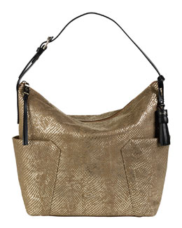 Cole Haan Parker Exotic Shoulder Bag, Camello