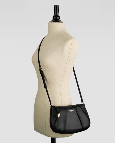 Adele Pleated Crossbody Bag, Black