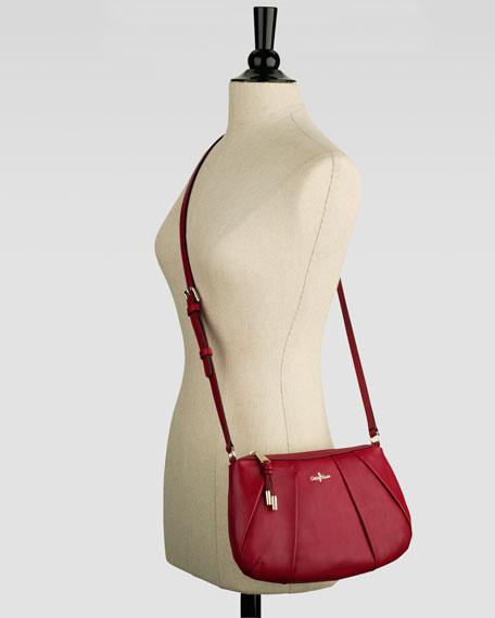 Adele Pleated Crossbody Bag, Velvet Red