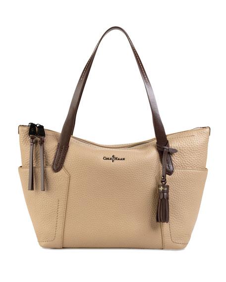 Parker Zip-Top Shopper Tote Bag, Sandstone