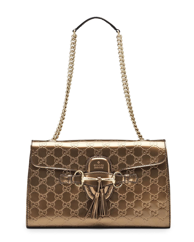 c8cb3b0cd3b Gucci Emily Guccissima Leather Shoulder Bag