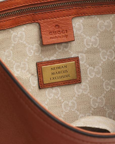 Harness Leather Hobo Bag, Burnt Orange