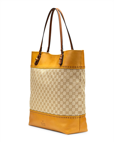 Laidback Crafty Original GG Canvas Tote Bag, Yellow