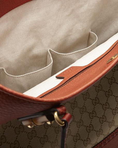 Laid-Back Crafty Original GG Canvas Tote Bag, Burnt Orange