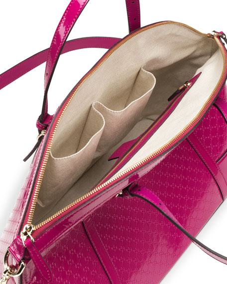 Gucci Nice Microguccissima Leather Top-Handle Bag, Fuchsia
