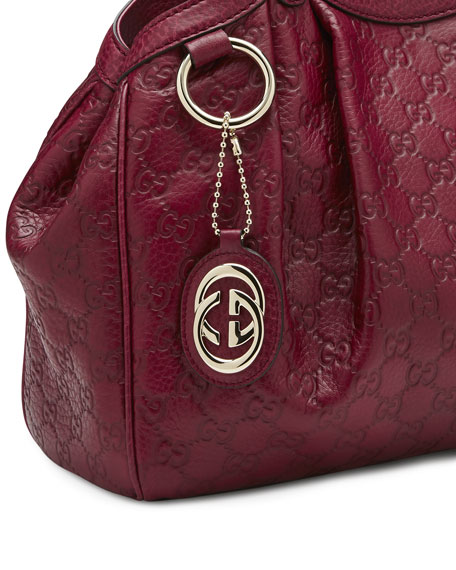 1c8601803b22 Sukey Medium Guccissima Leather Tote Dark Red