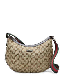 Gucci Original Medium Messenger Bag, Beige/Dark Brown