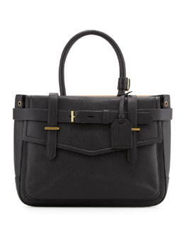 Reed Krakoff Boxer Pebbled Leather Tote Bag, Black