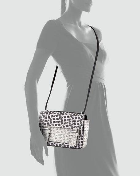 Standard Academy Printed Crossbody Bag, Black/White