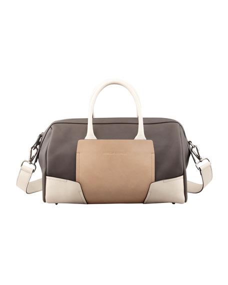 Colorblock Bowler Bag, Multicolor