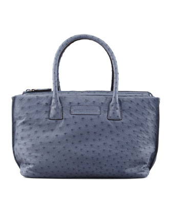 Ostrich Small Tote Bag, Denim
