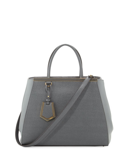 2Jours Vitello Elite Tote Bag, Gray