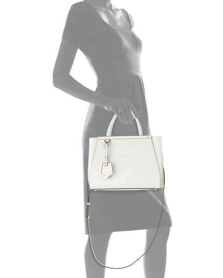 2Jours Mini Shopping Tote Bag, White