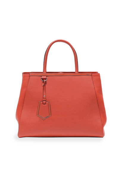Fendi 2Jours Leather Tote Bag, Pink