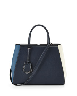 Fendi 2Jours Colorblock Leather Tote Bag, Multi