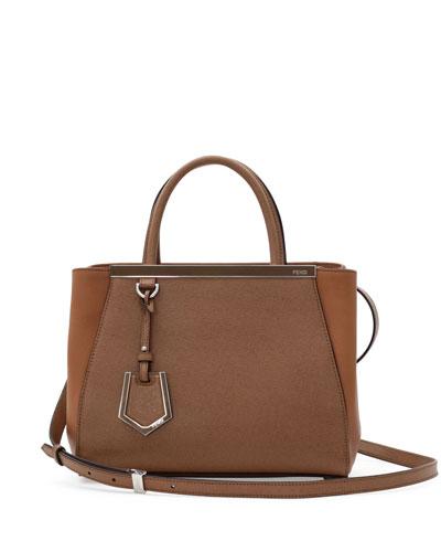 Fendi 2Jours Petit Tote Bag, Brown