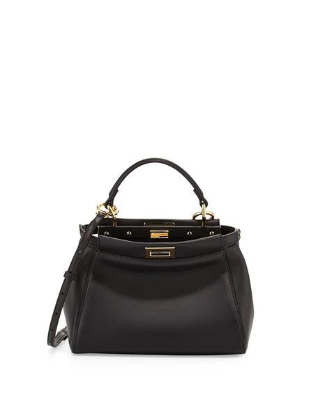 Peekaboo Mini Satchel Bag, Black