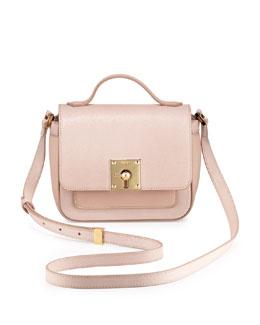 Fendi Mini Borsa Leather Crossbody Bag, Light Pink