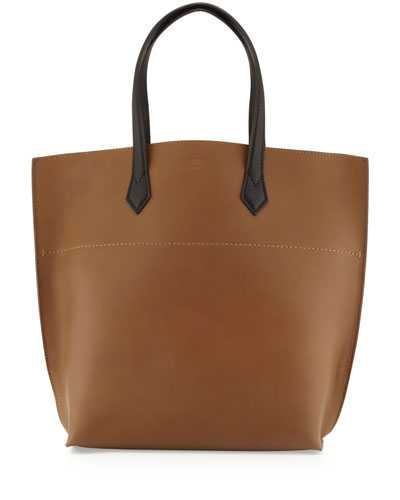 Fendi All In Leather Tote Bag, Brown/Black
