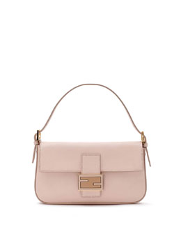 Fendi Leather Baguette with Strap, Light Pink